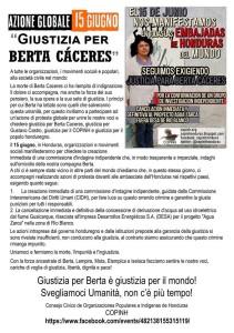 conv. copinh - azione globale giustizia per Berta - 15.06.16