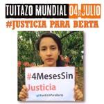 tuitazo mundial 4 de julio #justicia para berta